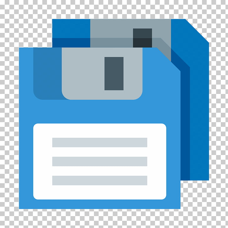 Computer Icons Floppy disk , save button, blue diskette icon.