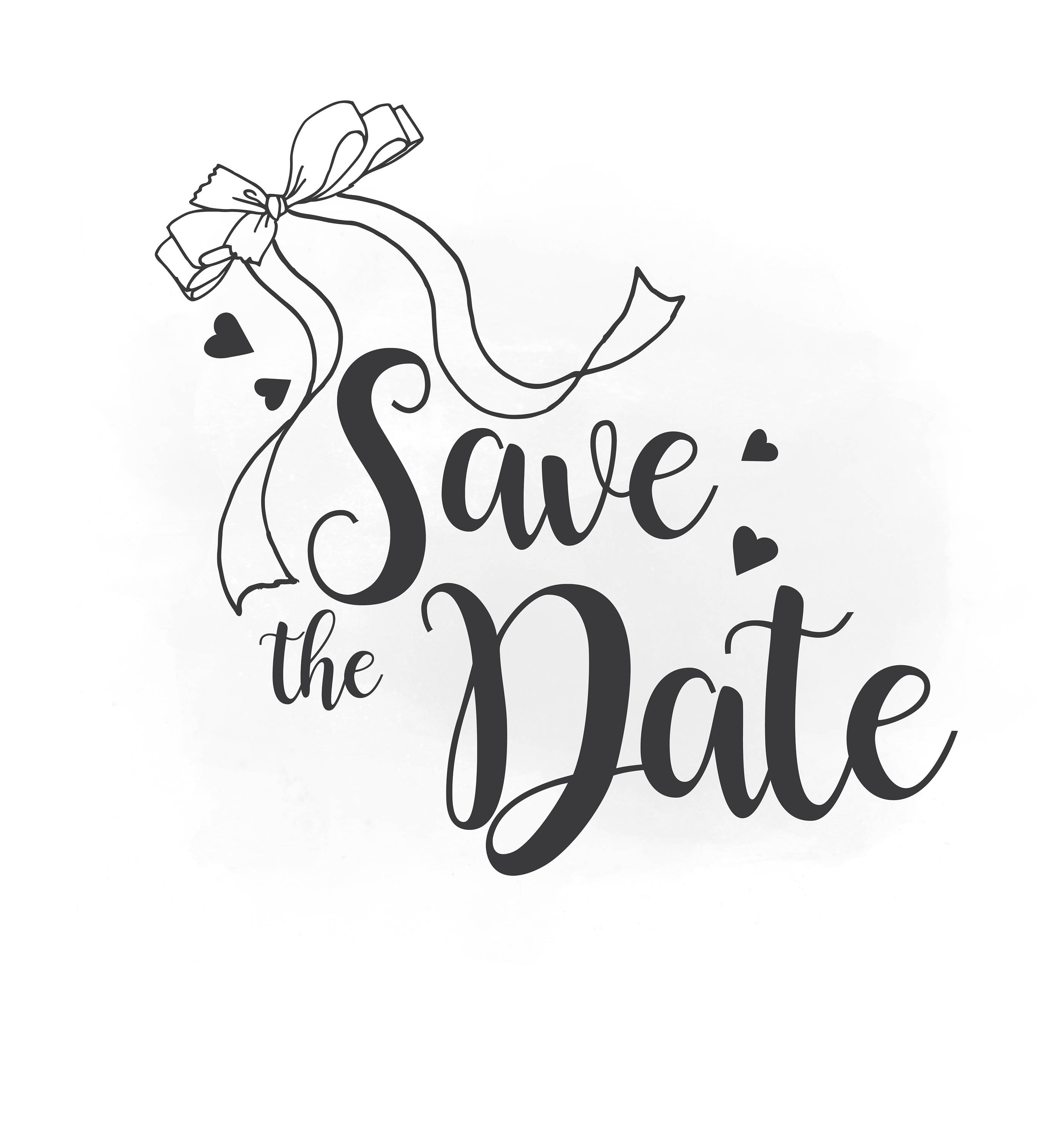 Save The Date Clipart Png.