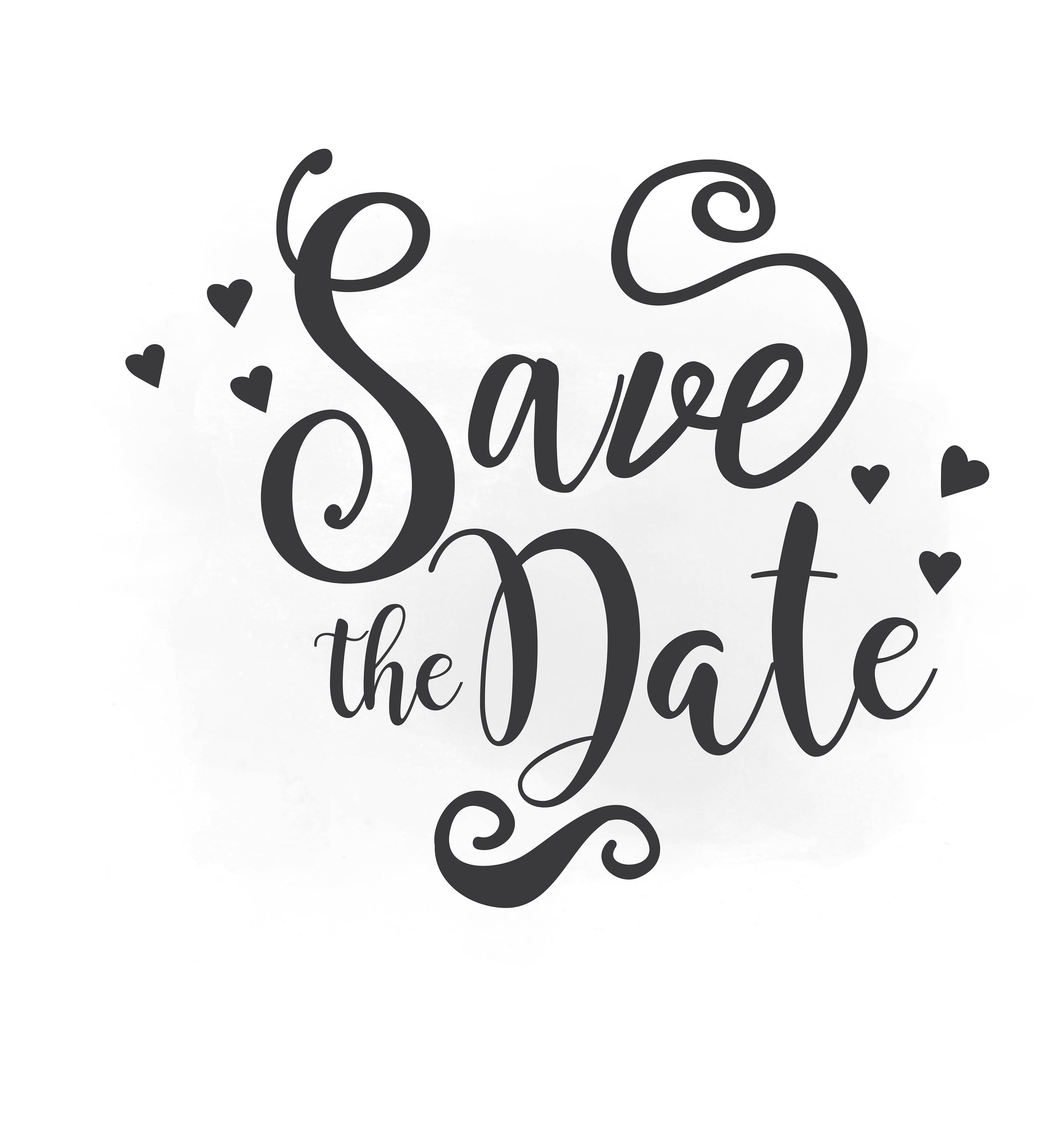 660 Save The Date free clipart.