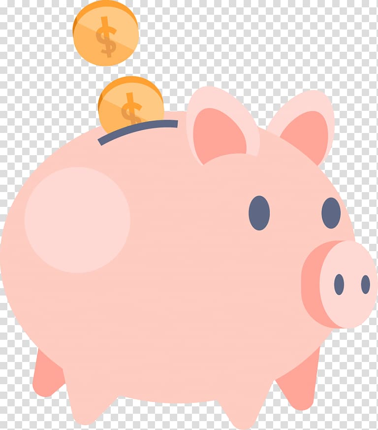 Piggy bank Money Saving, bank transparent background PNG.