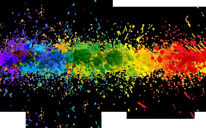 Transparent Rainbow Splash Line Background in 2019.