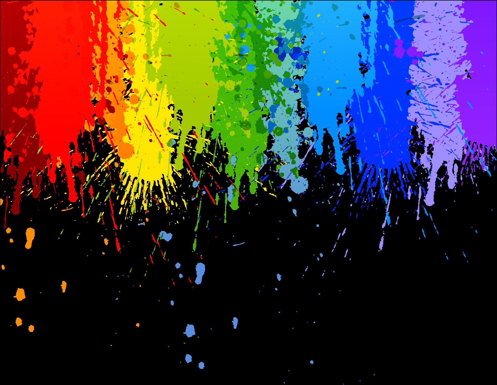 Rainbow Colour Splash Drip Transparent Background in 2019.