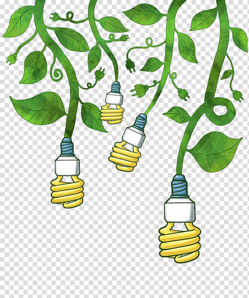CFL bulbs illustration, Electricity Euclidean AC power plugs.