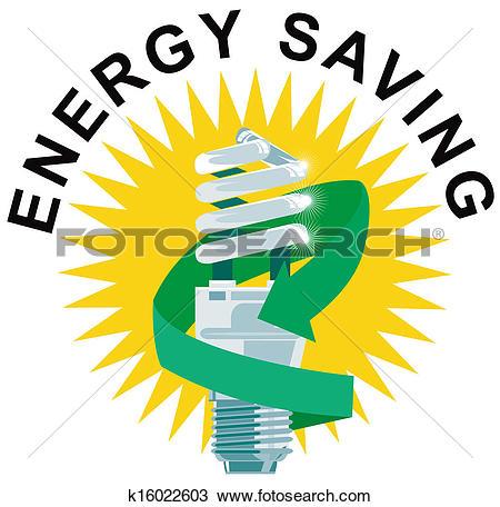 Clipart of Energy Saving Label Lightbulb k16022901.