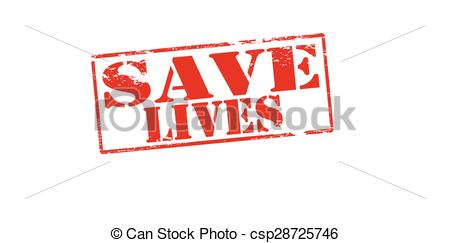 EPS Vector of Save lives.