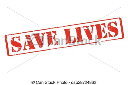 Clip Art Vector of Save lives.