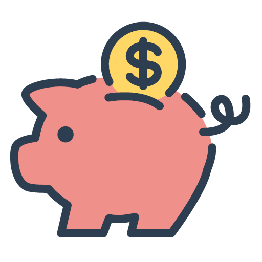 money piggy resolutions save money savings icon.