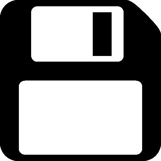 Simple black save icon #36522.