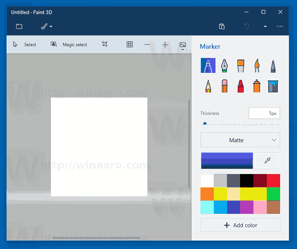Create Transparent PNGs with Paint 3D in Windows 10.