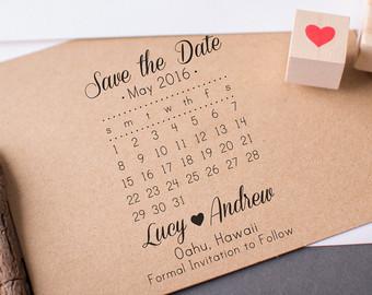 save the date calendar template