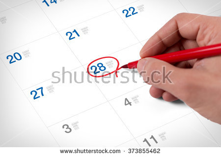 Save The Date Calendar Stock Images, Royalty.