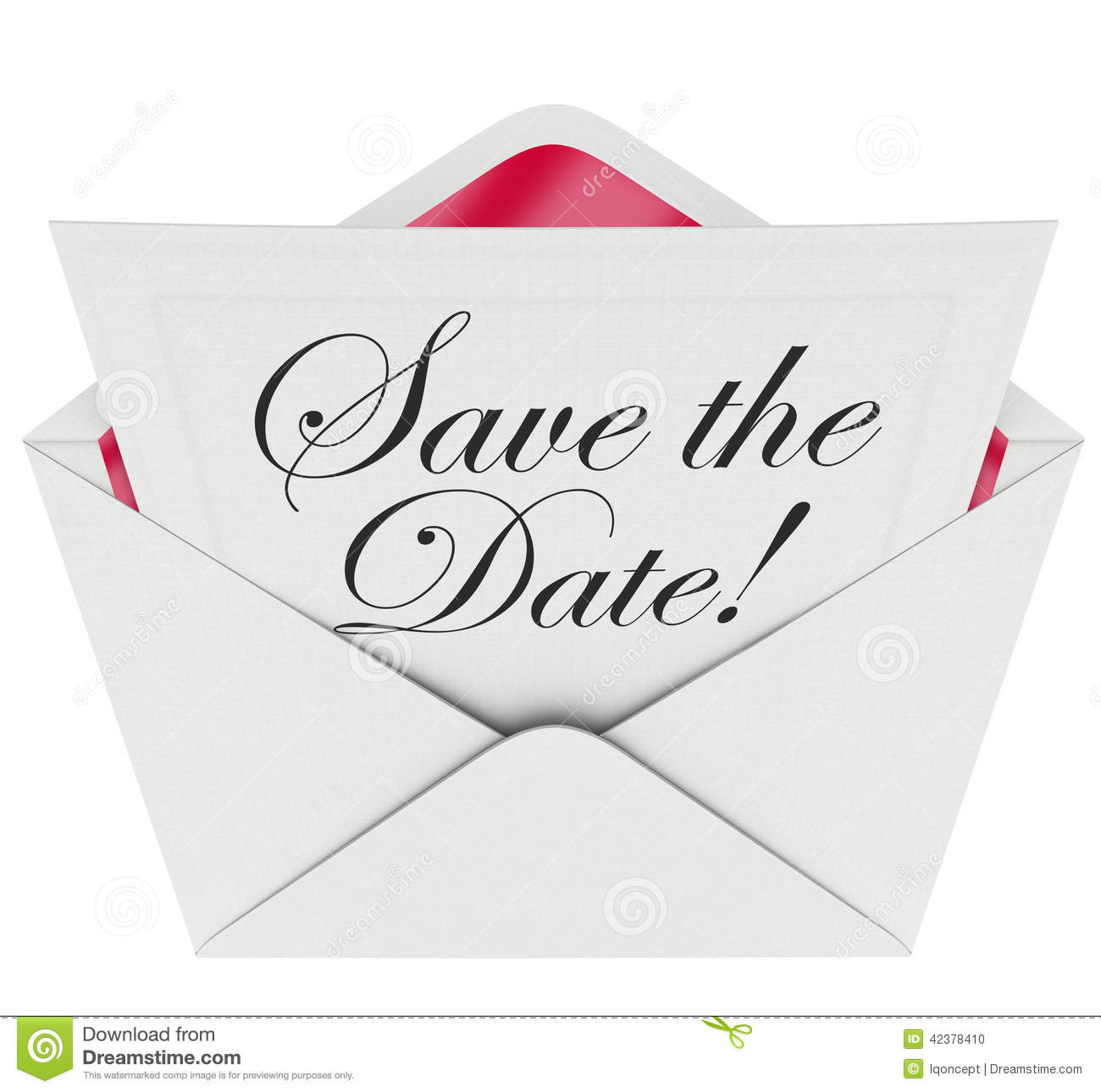 Save The Date Holiday Party Clipart.