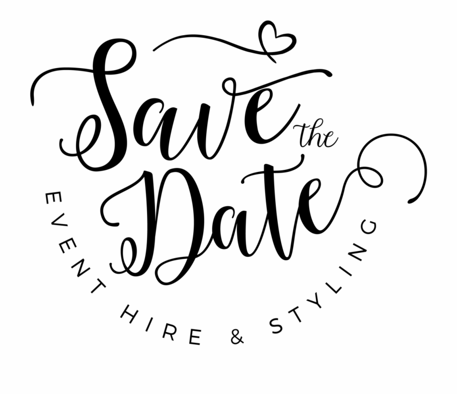 Free Save The Date Clipart Black And White, Download Free.