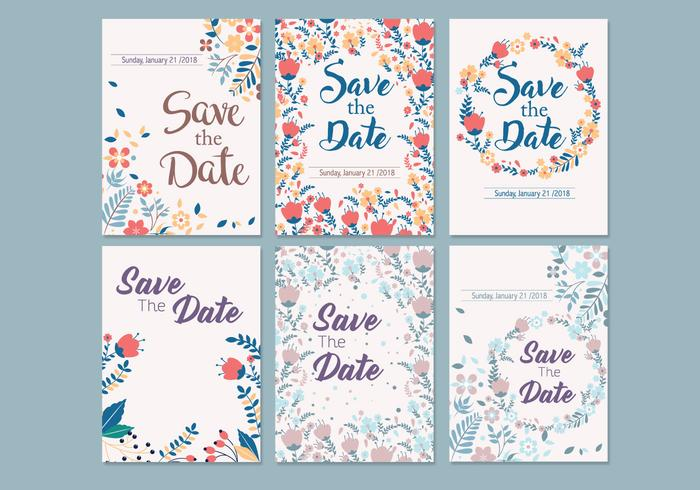 Wedding Save the Date Template Vector.