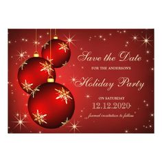 Christmas And Holiday Party Save The Date.