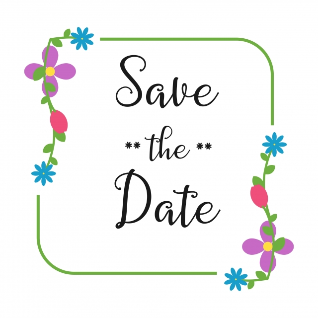 Save The Date Vector Template Design, Date, Save, Invitation.