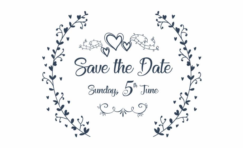 Save The Date Wedding Invitation Ornaments Ai File.