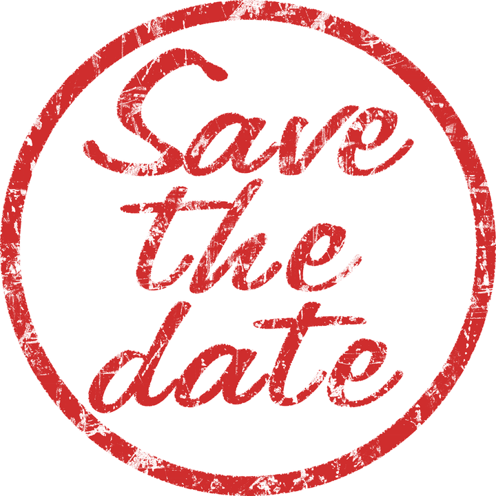 Save the Date Stamp transparent PNG.