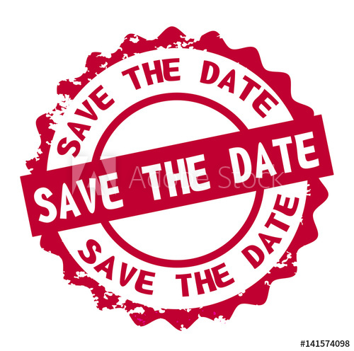 Save the date stamp sign seal logo.