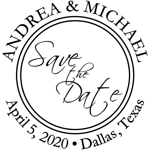 Save The Date Round Stamp.