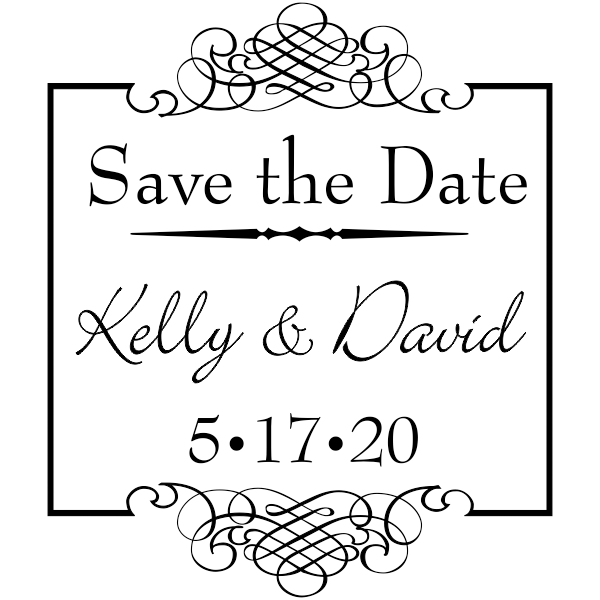 Save The Date Rubber Stamp.