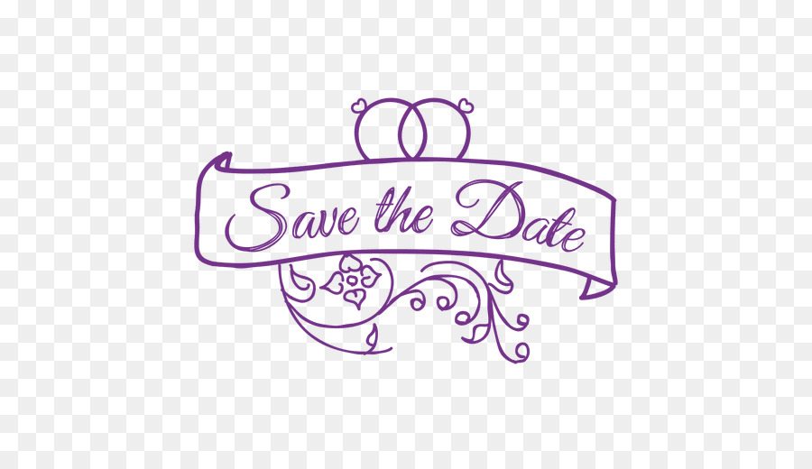 Wedding Save The Date png download.