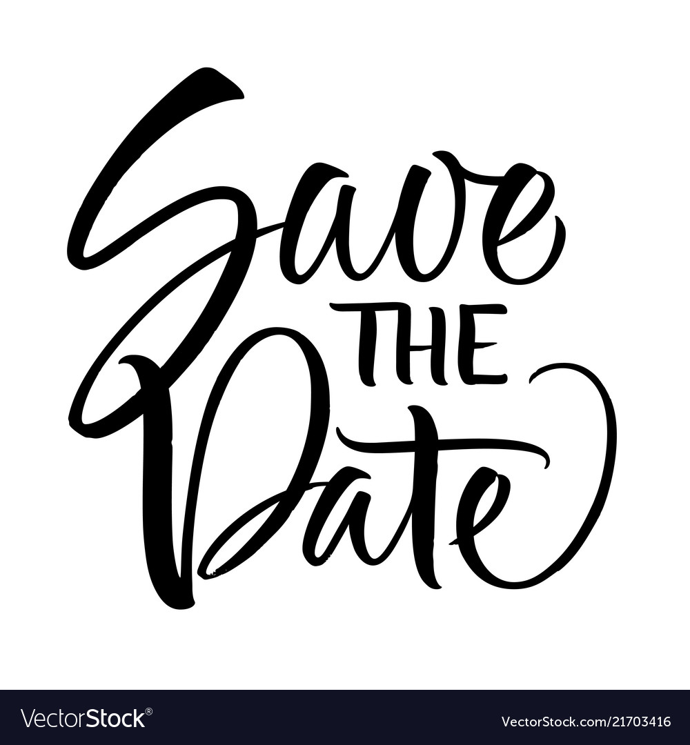Save the date lettering.