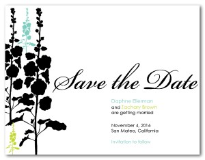 Printable Save the Date Wedding Card Template.