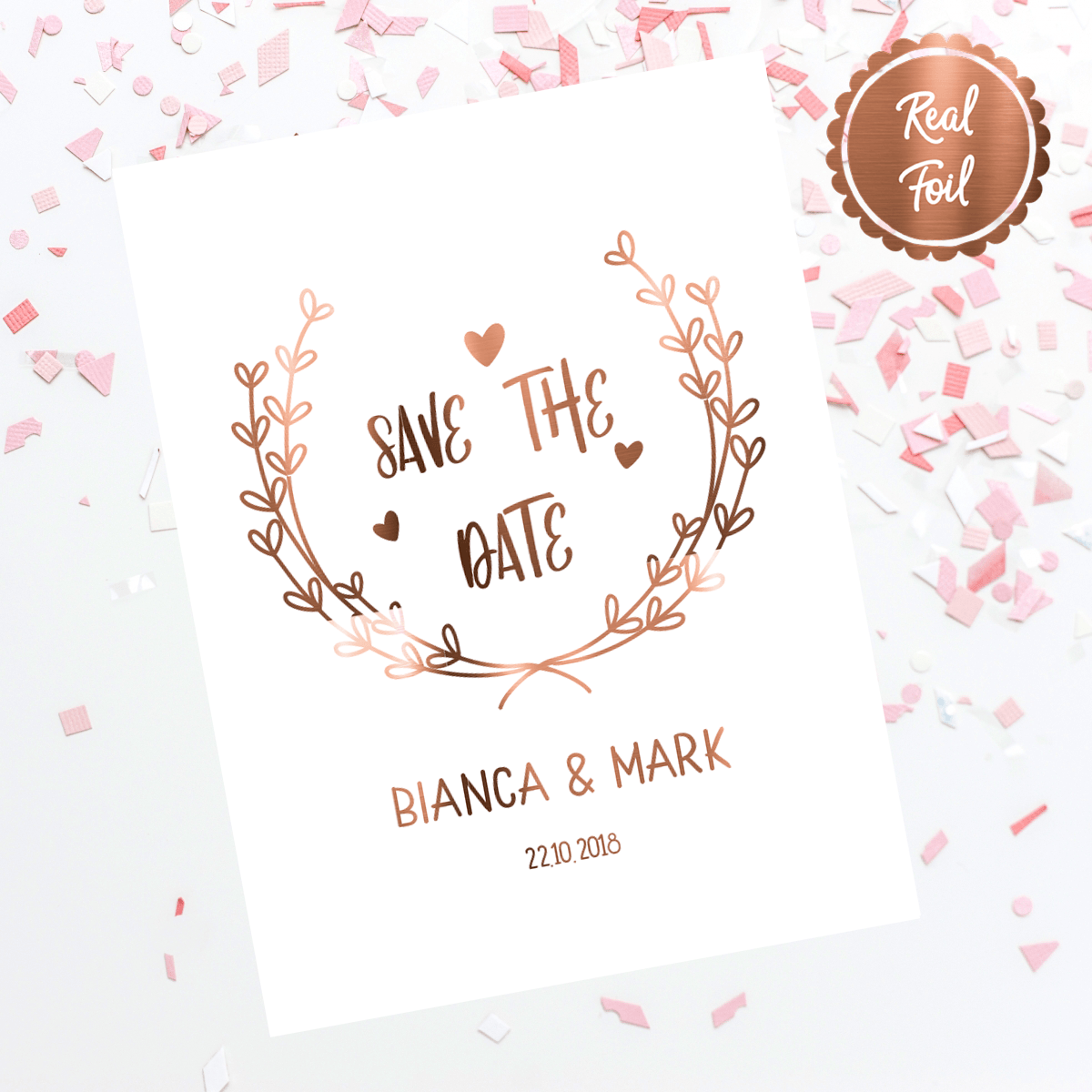 Wedding Save the Date Invitations \'GARDEN PARTY\'.