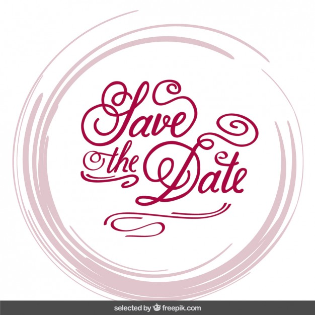 Wedding invitation in lettering style Vector.