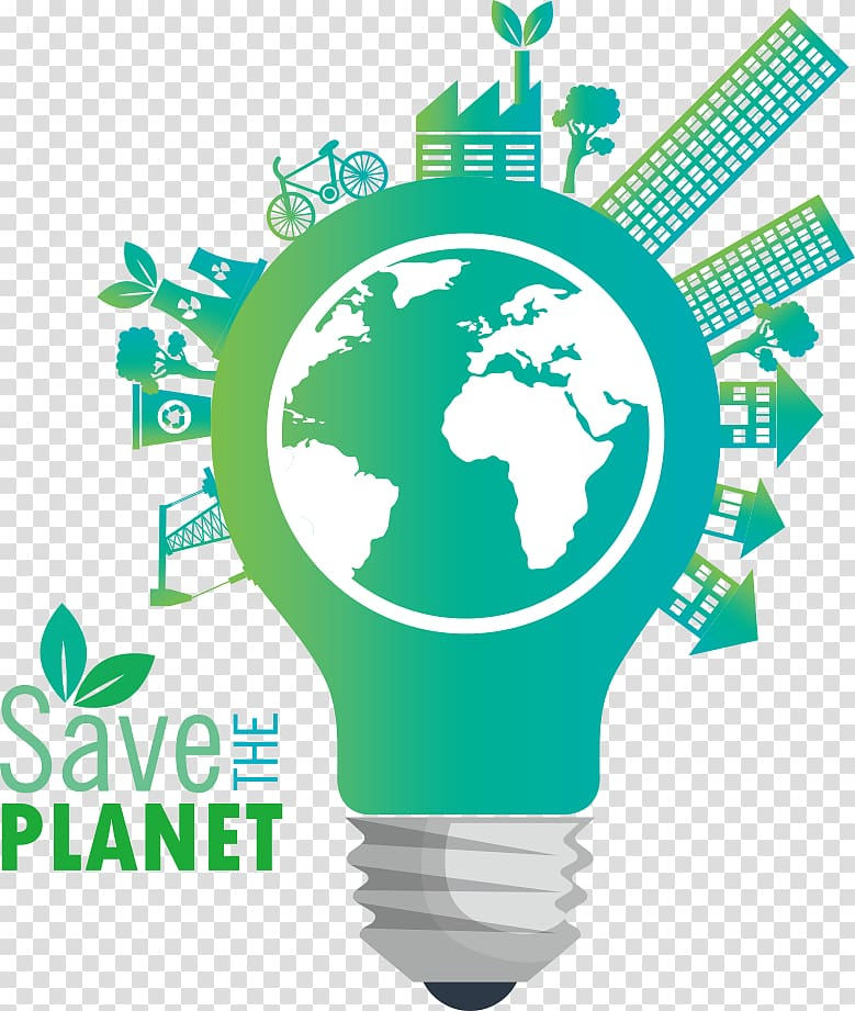Save The Planet illustration, Earth Concept Ecology, bulb.