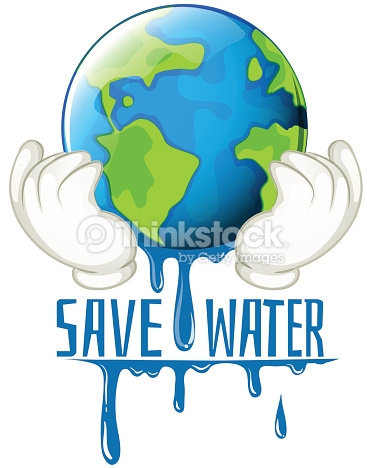 Save Water Sign Earth Melting Vector Art.