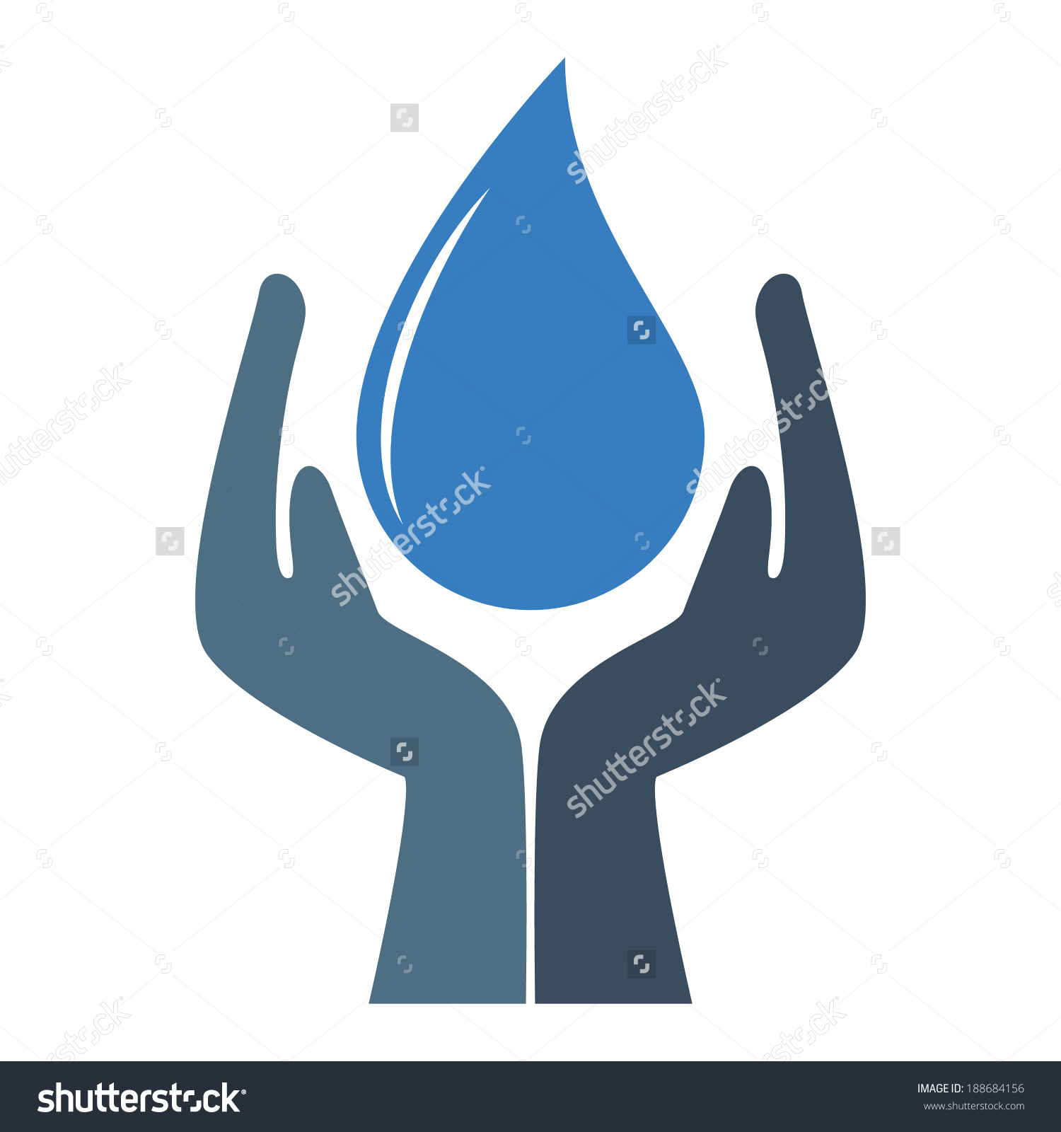 Save Water Stock Vector 188684156.
