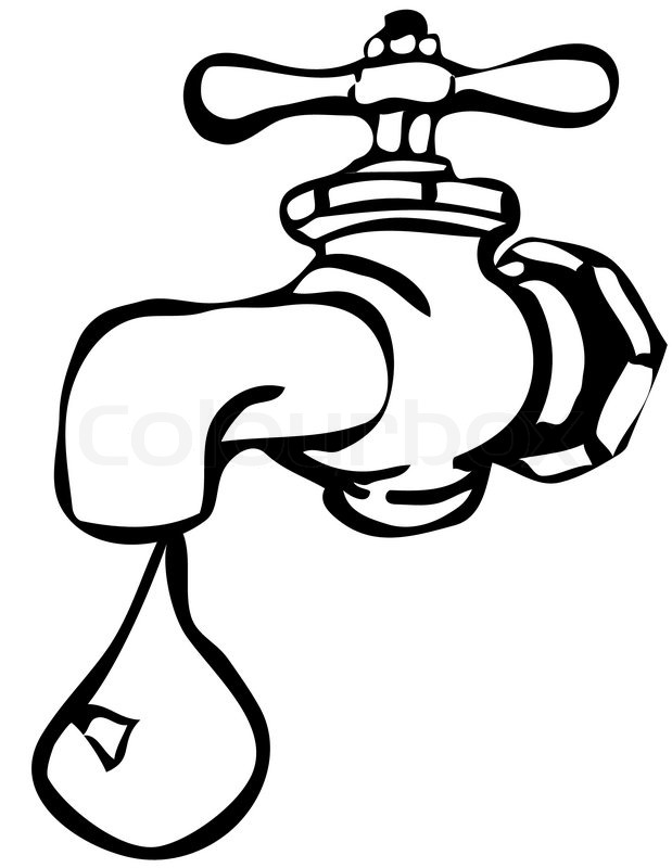 Save water clipart black and white » Clipart Station.