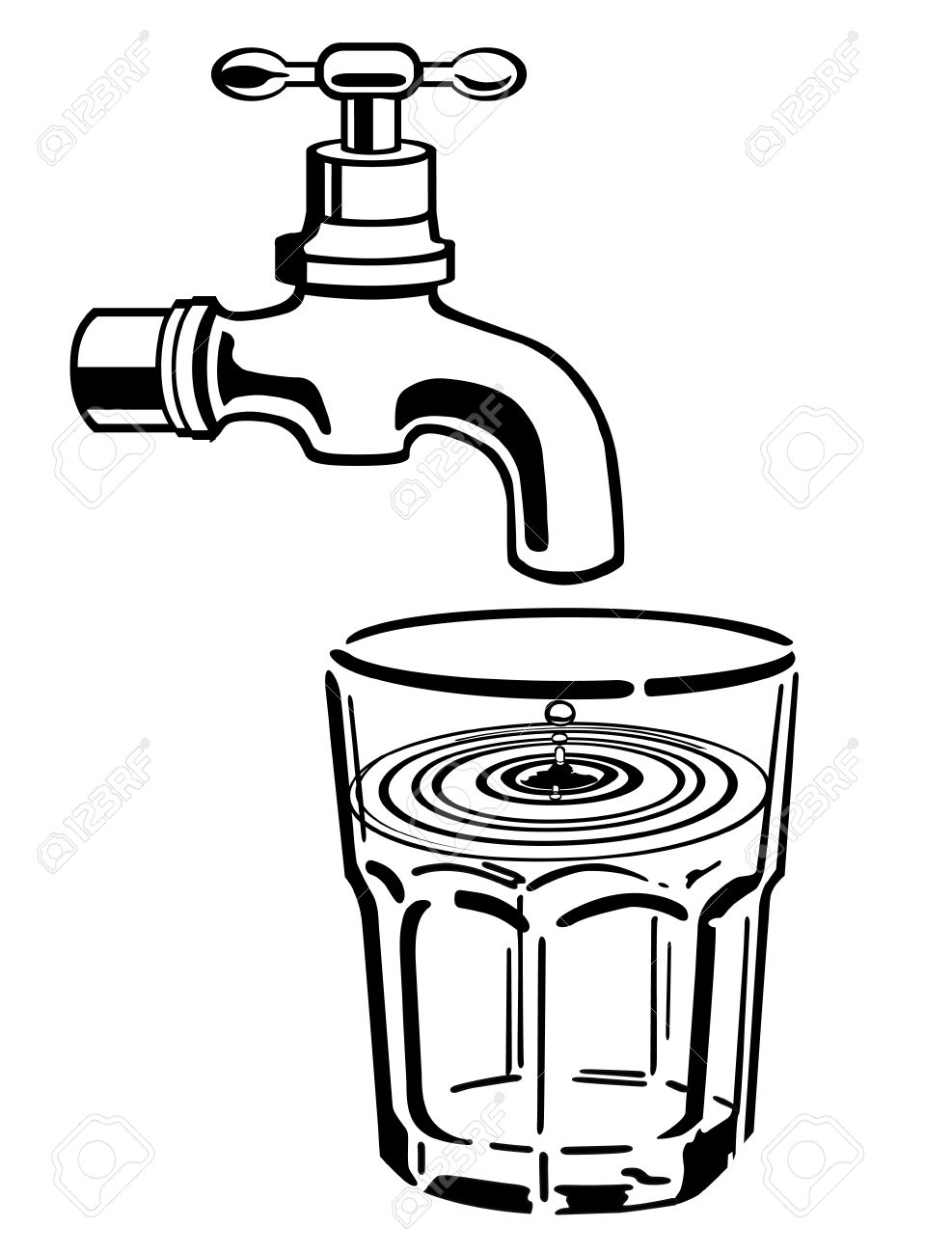 Save water clipart black and white 6 » Clipart Station.