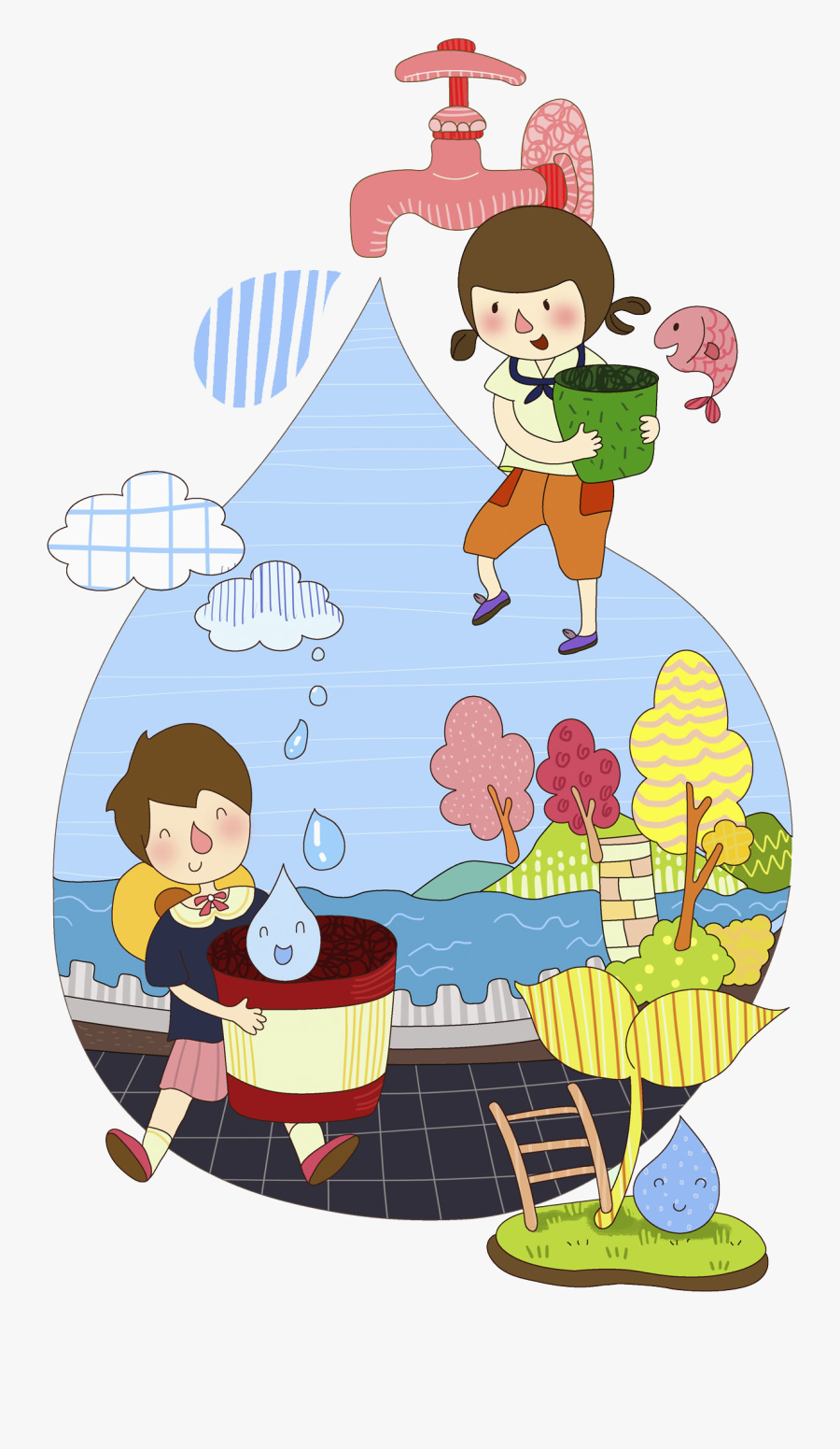 Transparent Save Water Clipart Images.