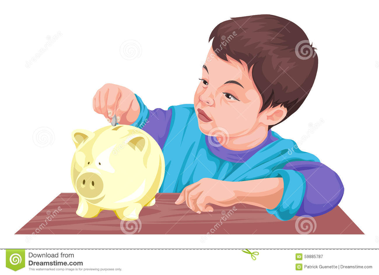 Kids saving money clipart.