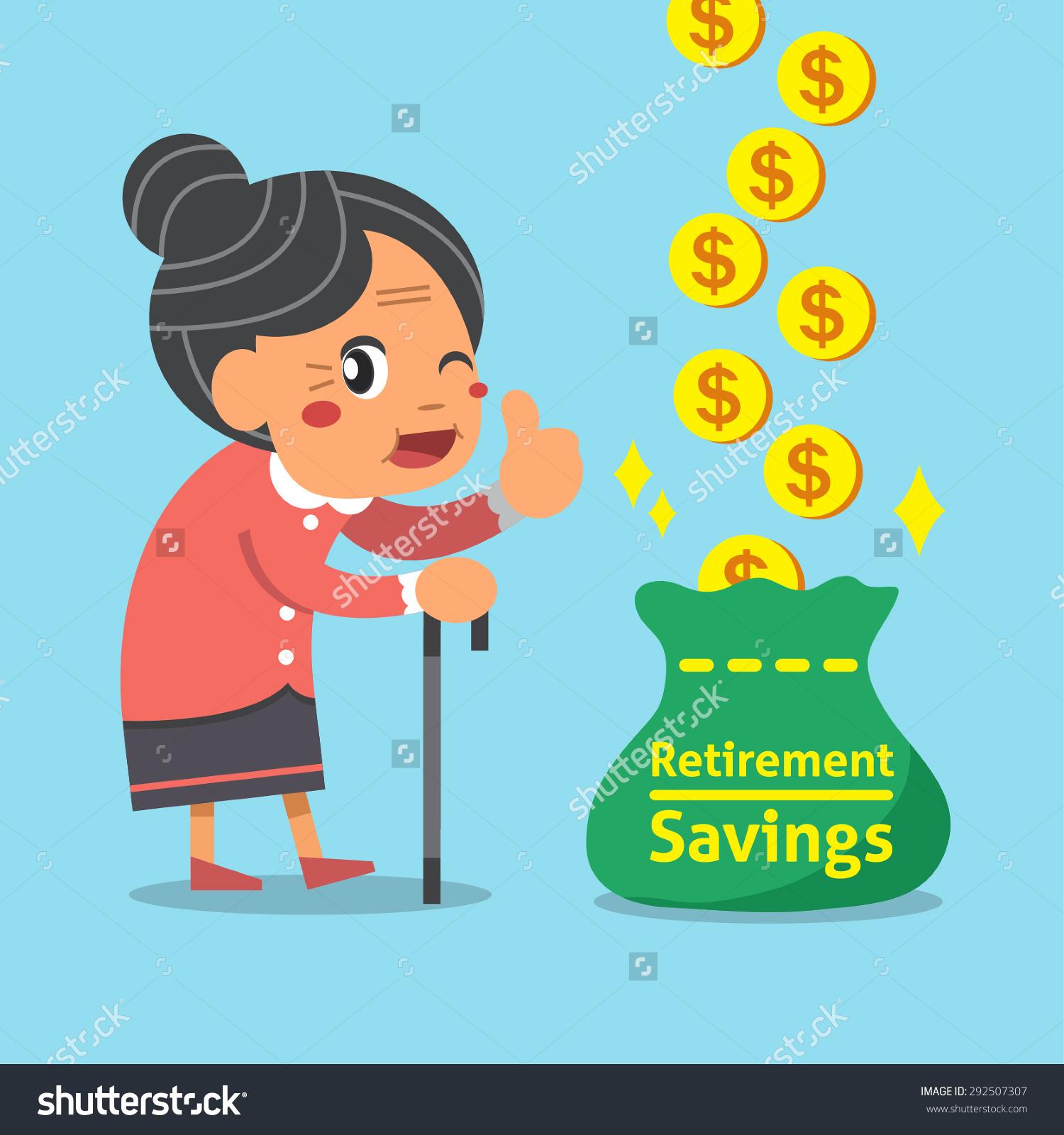 Saving for Retirement Clip Art.