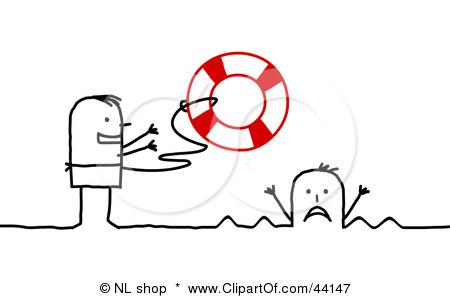 Saving Drowning Man Clipart.