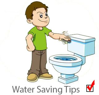 saving water.