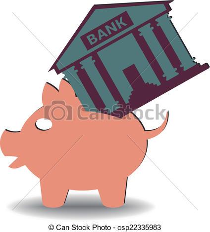 Vector of savings bank.