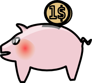 Piggybank Clip Art at Clker.com.