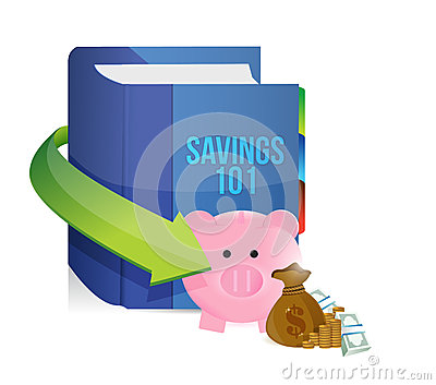 Savings 101 Book Illustration Design Stock Photography.