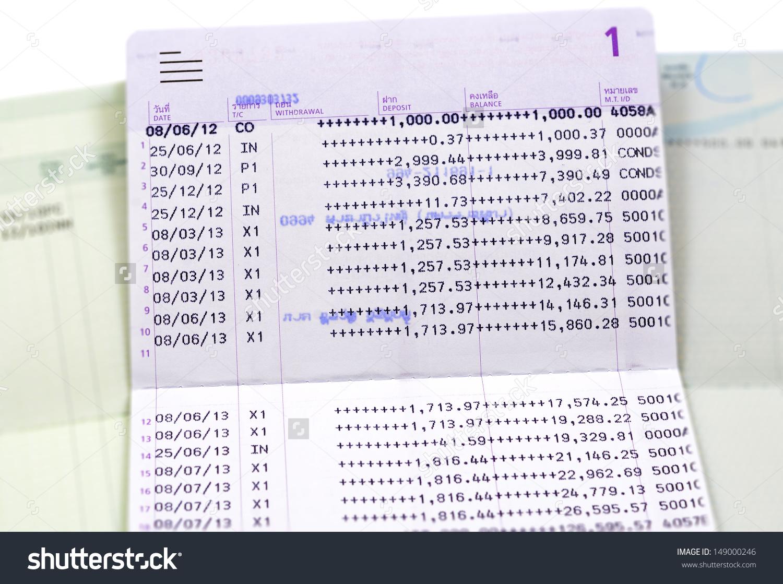 Saving Account Passbook Book Bank Stock Photo 149000246.