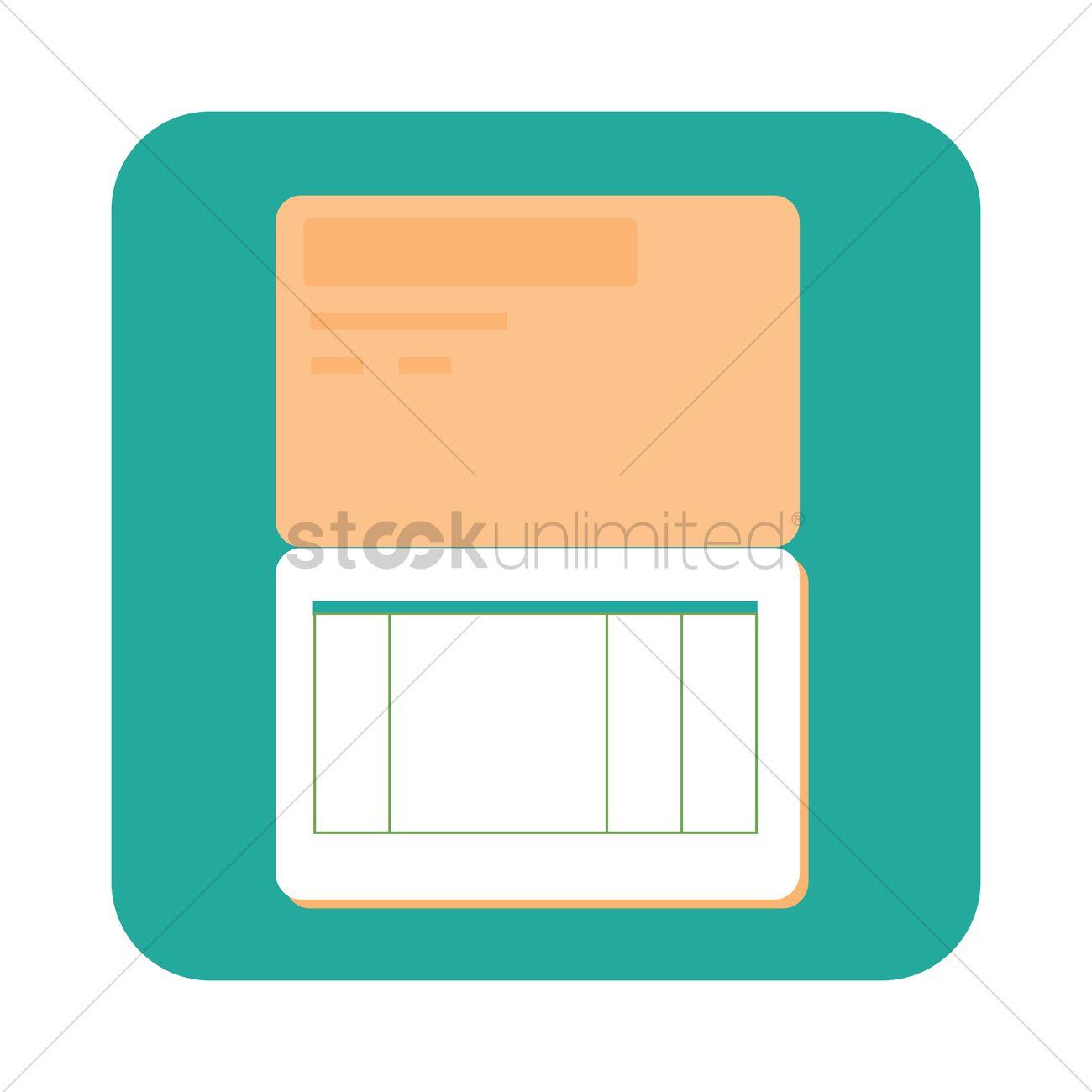 Free Savings book Vector Image.