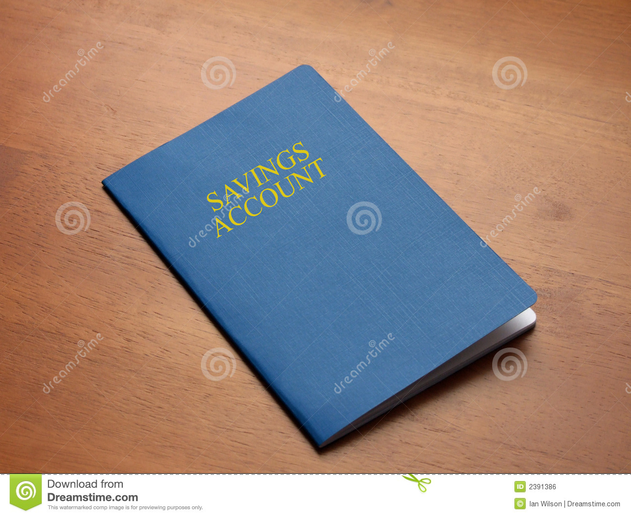 Savings Account Book Royalty Free Stock Image.