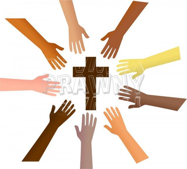 Reaching Out to the Saviour Prawny Christian Clip Art.