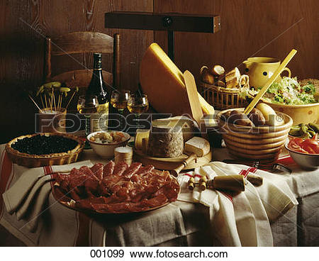 Stock Photograph of Raclette from Savoie 001099.