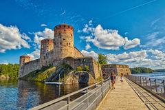 Savonlinna. Finland. Olavinlinna Castle Editorial Stock Image.