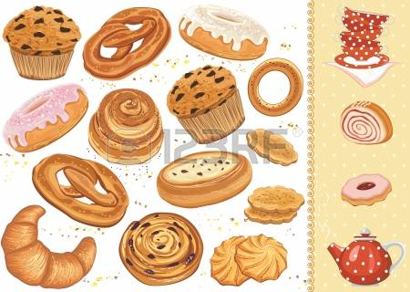 2,533 Savory Pastry Stock Vector Illustration And Royalty Free.